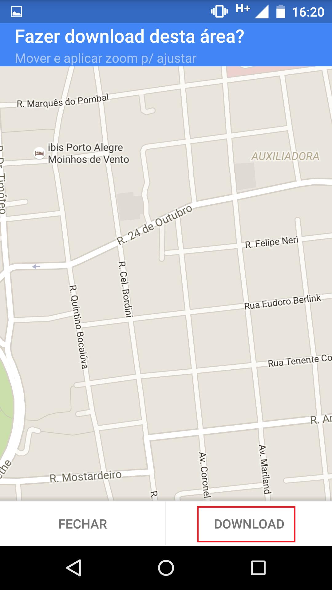 Mapa Android Fazendo Download De Dados