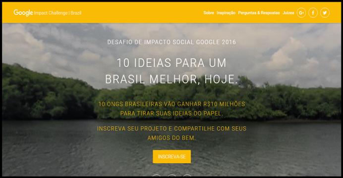 ONGs podem ganhar até 10 milhões de reais do Google Brasil