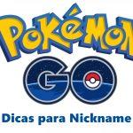 nickname para pokemon go