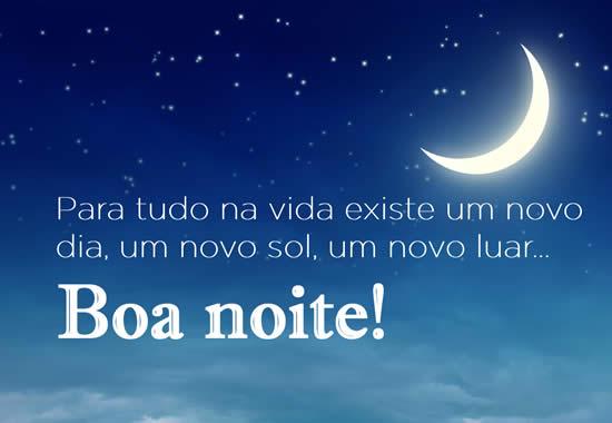 mensagem de boa noite para facebook com lua linda