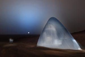 casa de gelo em Marte