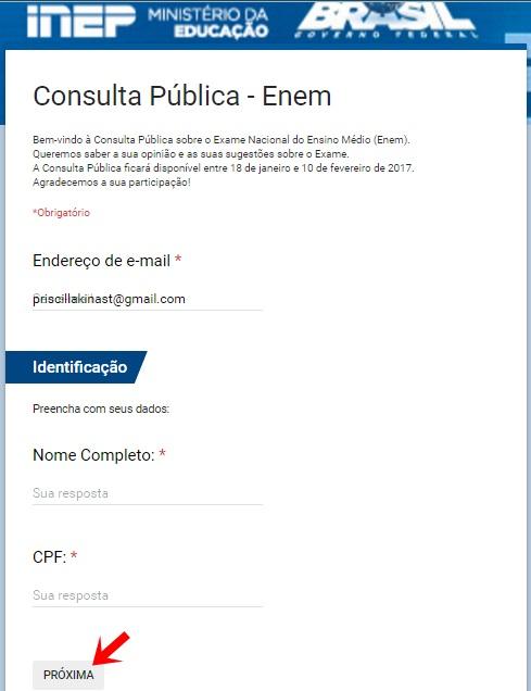 Consulta Pública Enem 1
