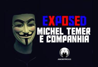 anonymous ataca michel temer