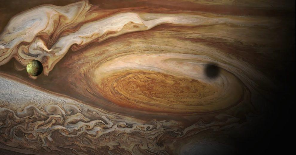 Grande Mancha Vermelha de Júpiter é capturada pela Juno em 3D