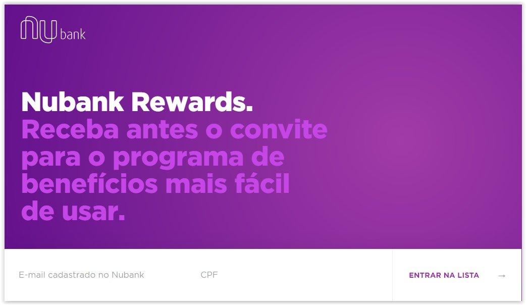 Nubank começa a cadastrar interessados em programa de recompensas