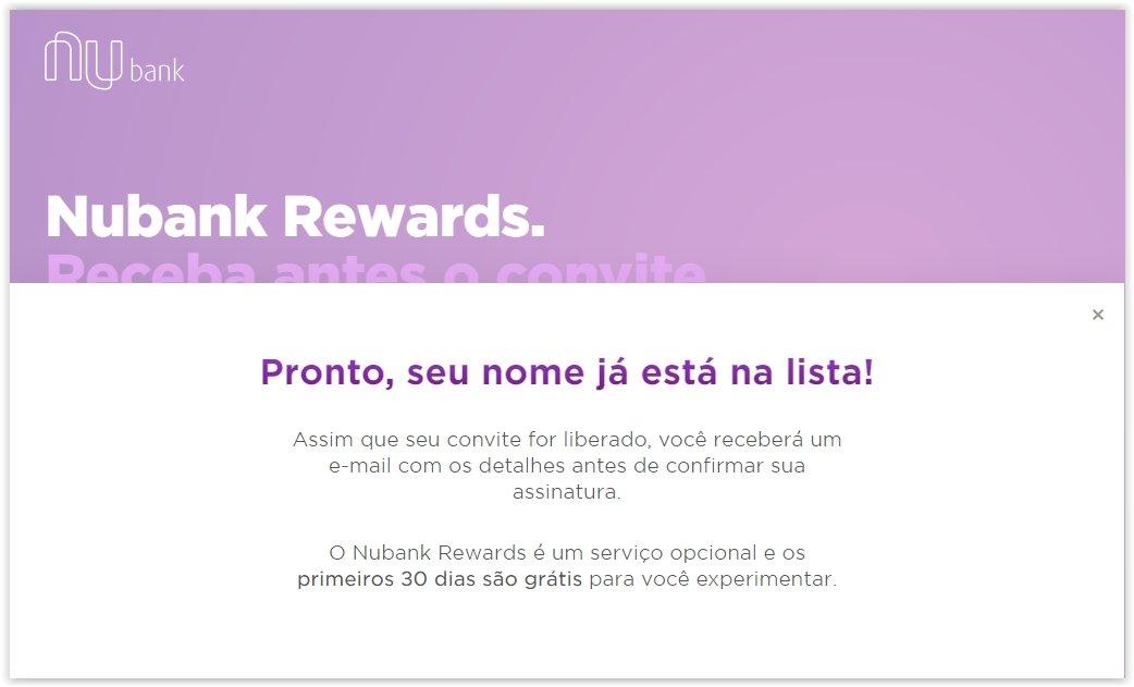 Nubank abre cadastro para seu esperado programa de recompensas