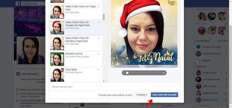 Como Colocar O Tema De Natal Do Facebook Na Foto De Perfil