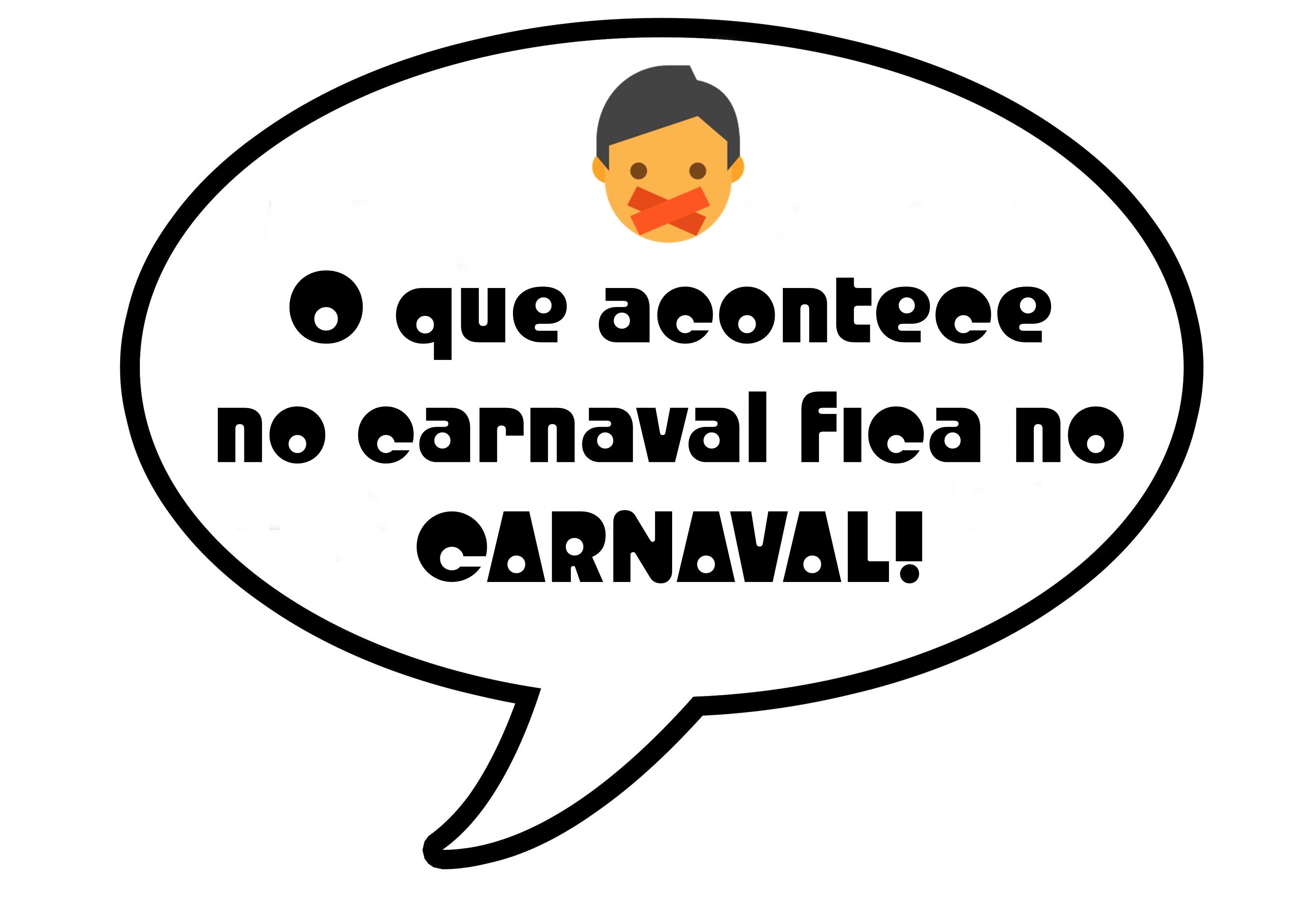 plaquinha de carnaval