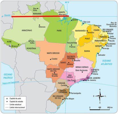 Linha do Equador no Brasil