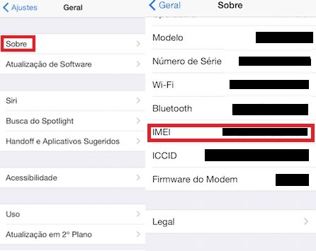 descobrir IMEI iPhone