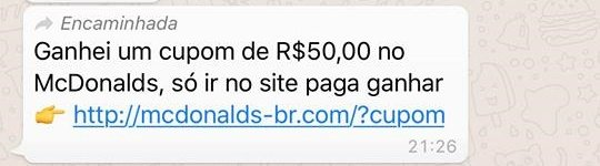 golpe do whatsapp
